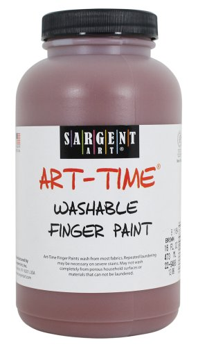 Sargent Art 22-9488 16-Ounce Art Time Washable Finger Paint, Brown