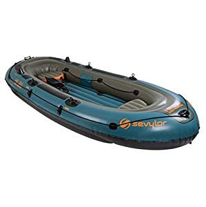 "SEVYLOR Fish Hunter 6 Person Inflatable Camping Boat w/ Gear Bag | 11'9"" x 5'7"""