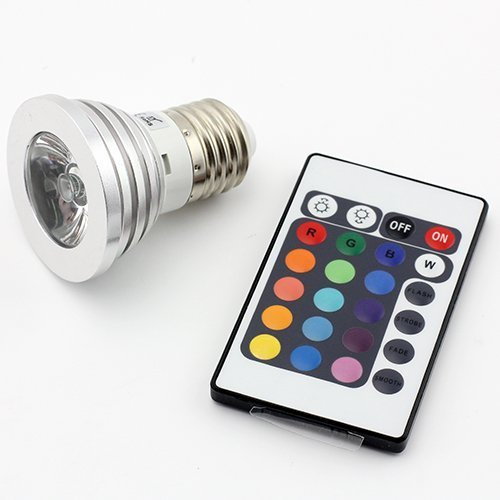 DUMVOIN LED RGB Lampe E27 3W 16 Farben zum Farbwechsel mit IR Fernbedienung für Deko/Bar/Party/KTV Stimmungsbeleuchtung Glühbirne RGB Leuchtmittel