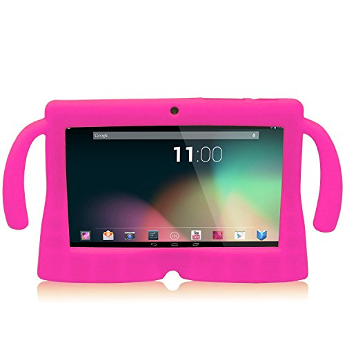 Lowest Prices! Get It Home 7 Inch Silicone Rubber Gel Soft Skin Case Cover for 7 Dragon Touch A13 Dual Core Q88 Tablet – Magenta