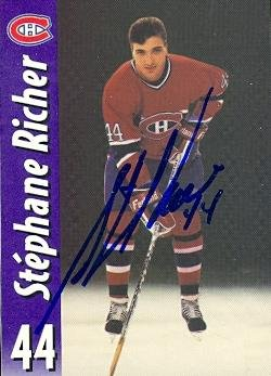 autograph-warehouse-63638-stephane-richer-autographed-hockey-card-montreal-canadiens-molson-export-n