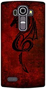 The Racoon Grip printed designer hard back mobile phone case cover for LG G4. (Red Dragon)