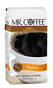 Mr. Coffee Hazelnut Medium Ground Coffee, 12-Ounce Bags (Pack of 6)