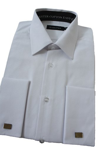 Marcella Dress Shirt From Double Two 19 1/2inch Neck, White