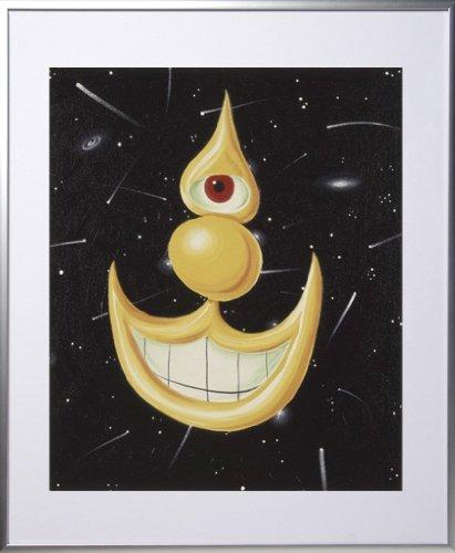 24x20 in. aluminum Kenny Scharf Space Happy