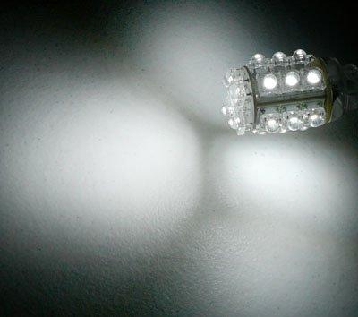 Pair of 3157 White 20 LED Hyper LED Light Miniature
