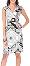 Connected Apparel Paisley Vector Sleeveless Dress