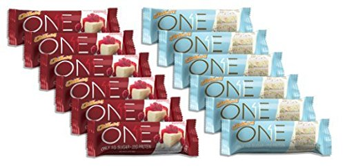Oh Yeah! ONE Bar 6 Birthday Cake/6 White Chocolate Raspberry (12 Bars Total) (Quest Bar Sugar Free compare prices)