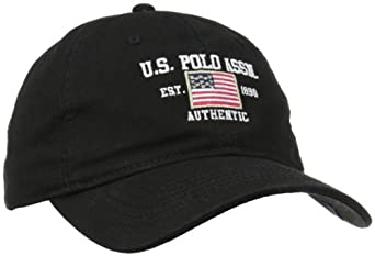 U.S. Polo Assn. Men's Flat Baseball Cap, Black, One Size