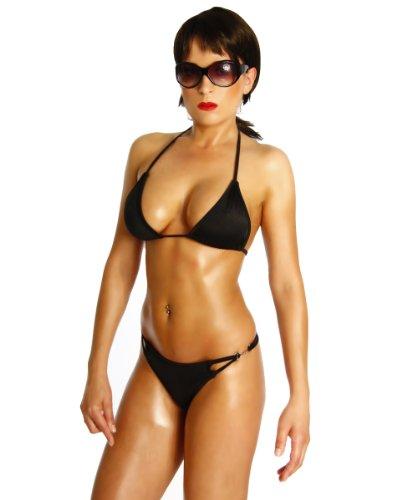 Sexy Neckholder String Bikini in schwarz rot oder weiß -Einheitsgröße für 34,36,38 Cup B und C