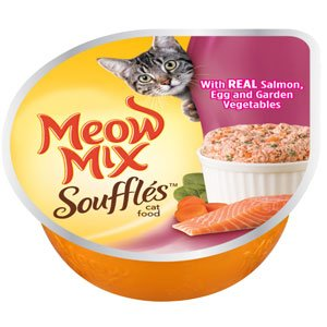 Meow Mix Soufflés With Real Salmon, Egg And Garden Vegetables