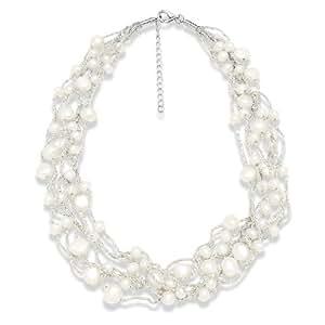 Valero Pearls - 60201080 - Collier  Argent 925/1000 - Femme - Perles Cultures d'Eau douce -  42+5  cm