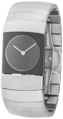 Jacob Jensen 580 - Reloj de pulsera Unisex, Titanio, color Plateado