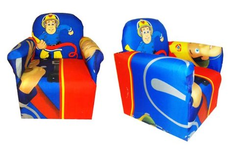 FIREMAN SAM CHILDRENS BRANDED CARTOON CHARACTER ARMCHAIR CHAIR BEDROOM PLAYROOM KIDS SEAT