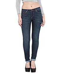 TARAMA Blue color Push Up Fit Cotton Stretch Denim fabric Full length Jeans for women's