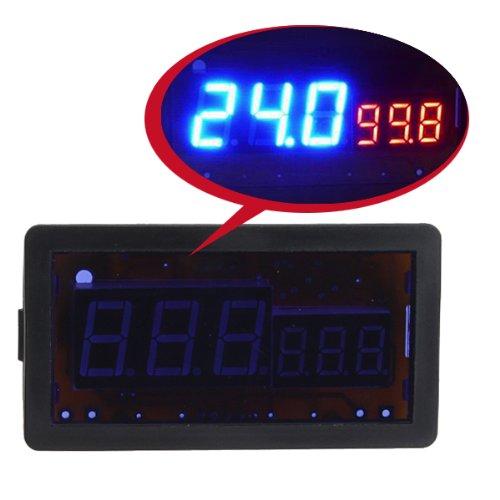 Digital?Blue + Red Led Combo Panel Amp Meter Voltmeter With (100V 100A Dc ) Shunt For Hho Ev Car Solar front-916392