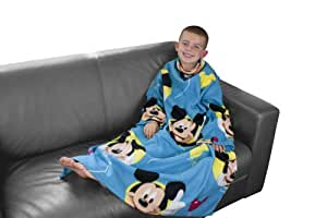 Character World Disney Mickey Mouse Puzzled Sleeved Fleece Blanket