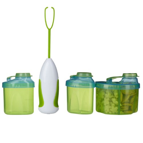 Munchkin Powder Formula Mixer & Dispenser Kit, Green front-487898