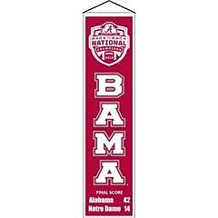 Buy Winning Streak Alabama Crimson Tide National Champions Wool Banner by J & C Baseball Clubhouse