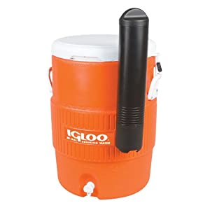 Igloo 10 Gallon Seat Top Beverage dispenser with spigot and Cup Dispenser by Igloo Products Corp.