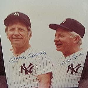 Signed Mickey Mantle Photograph - Whitey Ford - Autographed MLB Photos by Sports Memorabilia