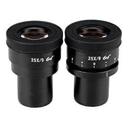 AmScope EP25X30F Pair of Focusable Extreme Widefield 25X Eyepieces (30mm)