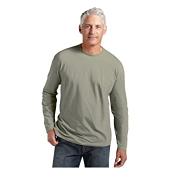 Coolibar UPF 50+ Men's ZnO Long Sleeve T-shirt - Sun Protective (Small - Bayou Shade)