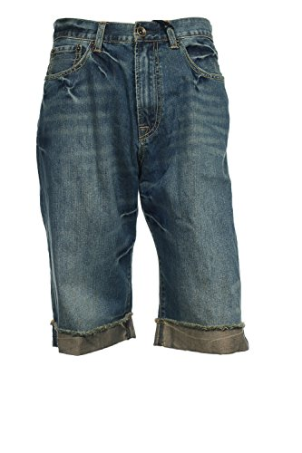 Ed Hardy by Christian Audigier Blue Distressed Long Shorts | Size 32