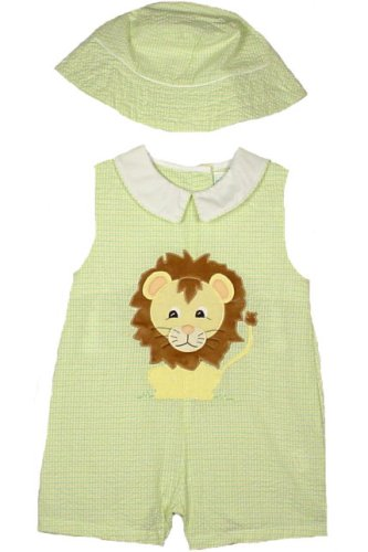 ZU Petit Ami Newborn/Infant/Toddler Boys Lion Seersucker Romper with Hat - Buy ZU Petit Ami Newborn/Infant/Toddler Boys Lion Seersucker Romper with Hat - Purchase ZU Petit Ami Newborn/Infant/Toddler Boys Lion Seersucker Romper with Hat (Petit Ami, Petit Ami Apparel, Petit Ami Toddler Boys Apparel, Apparel, Departments, Kids & Baby, Infants & Toddlers, Boys, One-Pieces & Rompers)