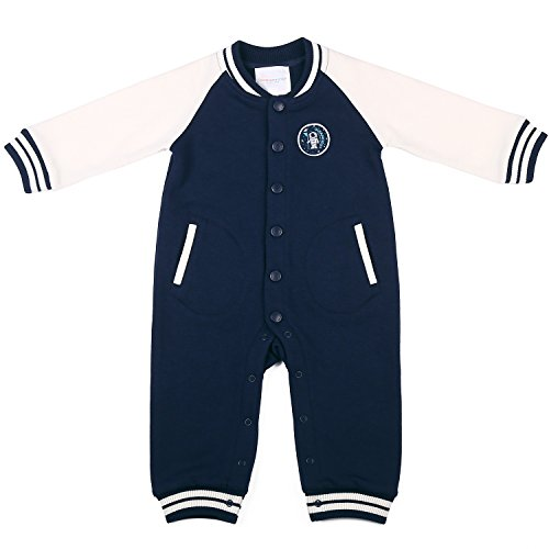 Oceankids Tuta a coste stile casacca, Blu Navy da bambino e bambina (Misura 18-24 Mesi)