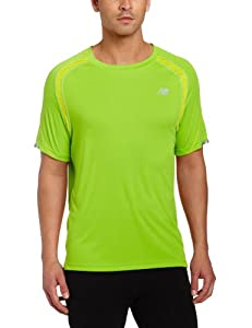 New Balance Men's Ice Short Sleeve Tee Shirt - Green, Small