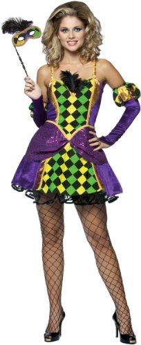 Rasta Imposta - Mardi Gras Queen Adult Costume - Small/Medium