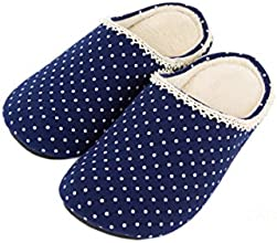 Home Slippers L Spotty Royal