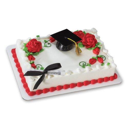 Decopac Black Graduation Cap with Tassel DecoSet Cake Topper - 1