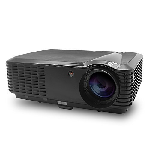 Excelvan 1280*800 Home Theater Projector, Support 720P, 1080I, 1080P,Built-in Speaker, Ideal for your home theater, games, backyard movie nights(Black)