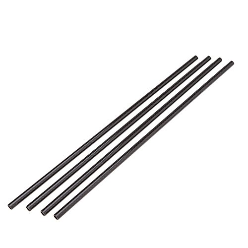 Pack of 4 Carbon Fiber Tube 8*6mm 330mm DIY Vanished Surface Tail Tube (Carbon Pipe compare prices)