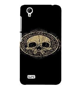 PrintVisa Cool Skull Design 3D Hard Polycarbonate Designer Back Case Cover for VivoY31L