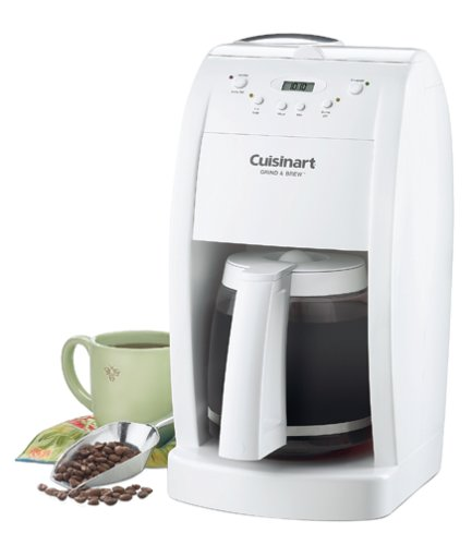 Cuisinart DGB-500 Grind & Brew 12-Cup Automatic Coffeemaker- White (Refurbished) at Sears.com