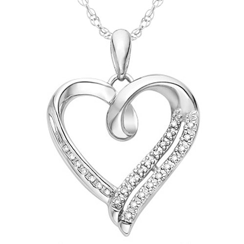 Diamond heart necklace reviews mozeypictures Choice Image