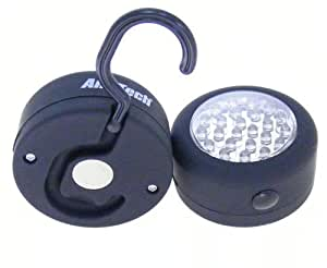 Am-Tech 24 LED Round Magnetic Work Light Torch With Integral Hook And Magnet