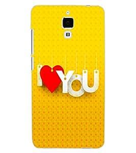 ColourCraft Love Quote Design Back Case Cover for XIAOMI MI 4
