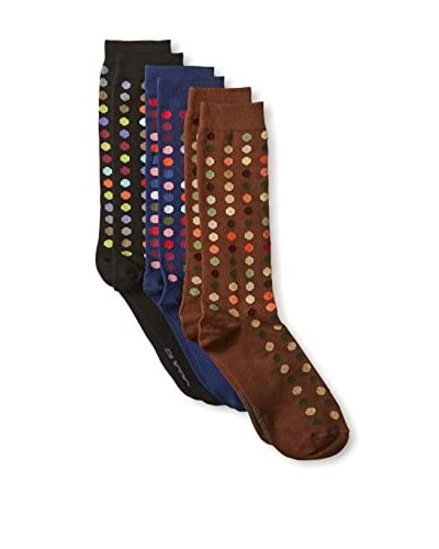 Ozone Men's Dots To Dots Socks - 3 Pack