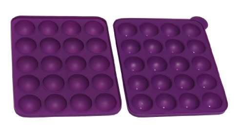 Better Value Round Chocolate Truffle, Jelly and Candy Mold,lollipop (Purple)8.9''x7.4''x1.96''Two Pieces/Set