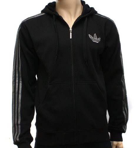 Adidas Originals Mens Fleece FZ Zip Up Hooded Sweatshirt Hoody Size S