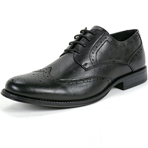 Alpine Swiss Zurich Mens Dress Shoes Lace Up Brogue Medallion Wing Tip Oxfords
