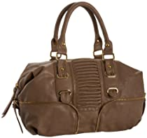 BIG BUDDHA Tuxedo Satchel,Brown,one size
