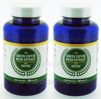 グリーンコーヒービーン 計120錠 Green Coffee Bean Extract 600mg with Svetol 200mg 海外直送品