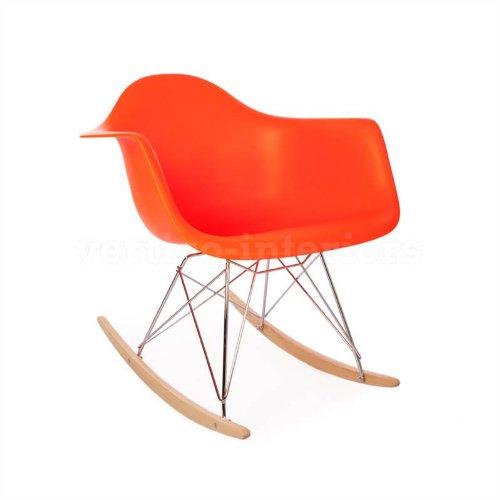 high quality eames style rar rocking arm lounge chair orange shop online sakollos. Black Bedroom Furniture Sets. Home Design Ideas