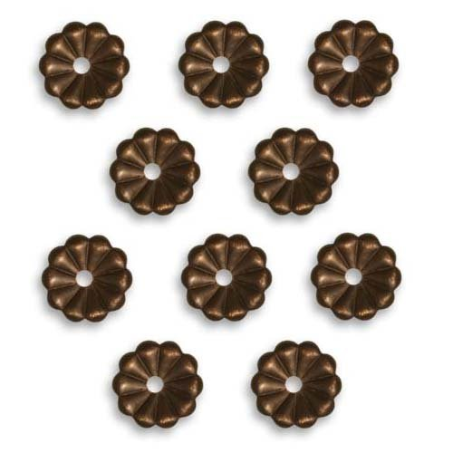 Vintaj Natural Brass Decorative Flower Daisy Washer 9mm (10) (Brass Washers For Jewelry compare prices)
