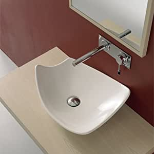 Above The Counter Bathroom Sinks : ... Above the Counter Bathroom Sink without Overflow - Vessel Sinks